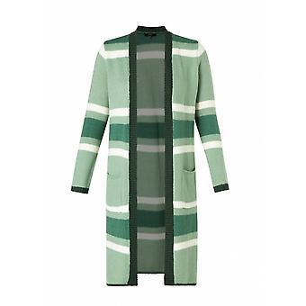 Yest Long Striped Cardigan - Adella