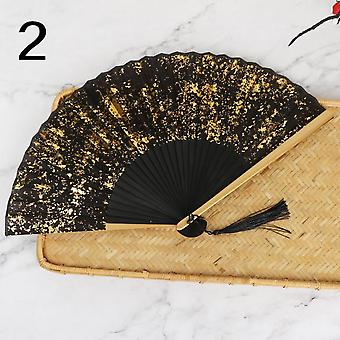 Sprinkle Gold And Silver Silk Dance Classical Chinese Wind And Wind Fan