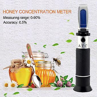 Lyt-390 المحمولة المحمولة تصميم المحمولة 0-90٪ العسل السكر الحل بريكس معامل الانكسار