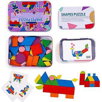 Fa mintás építőelem puzzle osztályozás és egymásra rakat játék