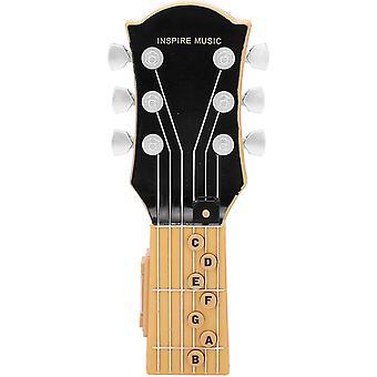 Air Guitar, Simulation d'induction infrarouge 7 accords Guitare Jouet pour enfants, Guitare portable Abs Plastic Shell Music Toy (noir)