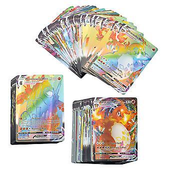 40kpl Vmax ranskankielinen versio Pokemon-kortille, jossa on Tag Team Game Battle Cards -leluja lapsille -kokoelmalahja