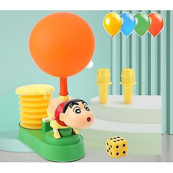 Crayon شين تشان بالون السيارة، تحلق مجموعة لعبة، اضغط على ضربة البالون