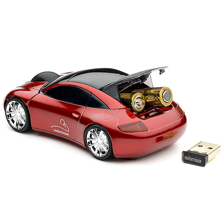 Official Motormouse Classic Sports Car Wireless Computer Mouse - Red
