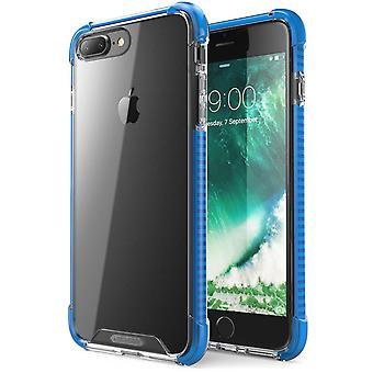 i-Blason-iPhone 7 mais caso-à prova de choque caso protetor-azul