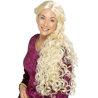 Stredoveký poľnohospodár princezná Loreley parochňa blondína