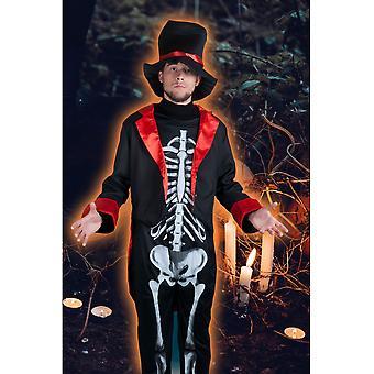 Costumi di uomini uomini scheletro costume Mister skully