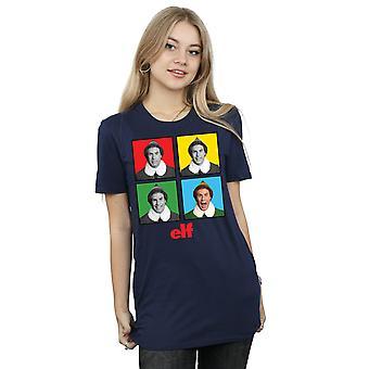 Elf Women's Four Faces Boyfriend Fit T-Shirt