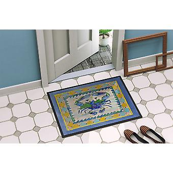 Carolines Treasures  8072-MAT Crab  Indoor or Outdoor Mat 18x27 8072 Doormat