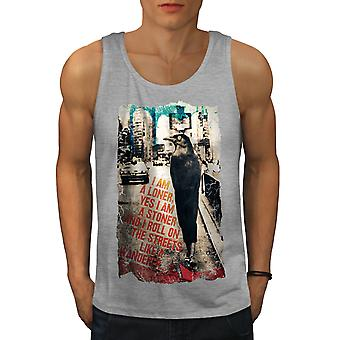 Solitaire City de Stoner hommes animaux GreyTank Top | Wellcoda