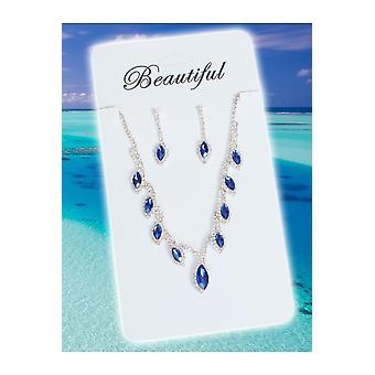 宝石と王冠の宝石セット プリンセス ブルー
