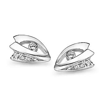 Orphelia Silver 925 Earring Leaf Zirconium   ZO-5040