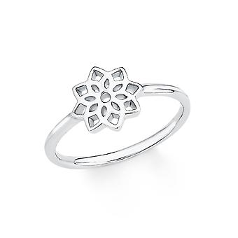 s.Oliver dames de bijou bague argent zircon blanc PURE fleur 201722