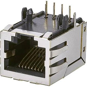 Modular panel jack, 1-Port, Socket, vertical vertical Number of pins: 8P8C A00-108-220-450 Black EDAC A00-108-220-450 1 pc(s)