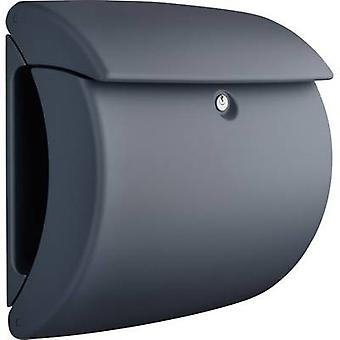 Letterbox Burg Wächter 35650 PEARL 886 Plastic Granite grey (matt) Key