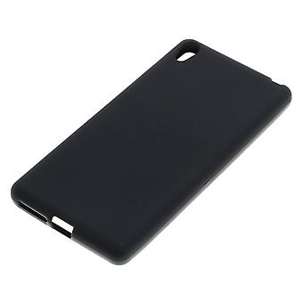 TPU case for mobile phone Sony Xperia E5 black mobile phone case