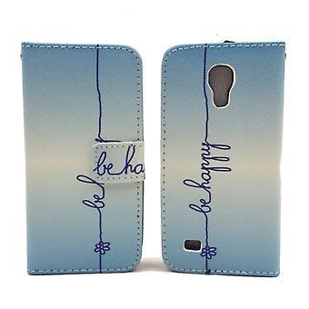 Mobiele telefoon geval zakje voor mobiele Samsung Galaxy S4 mini belettering worden gelukkig blauw