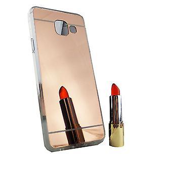Samsung Galaxy A3 2016 Handy-Hülle Spiegel Mirror Soft-Case Schutz-Cover Rose Gold
