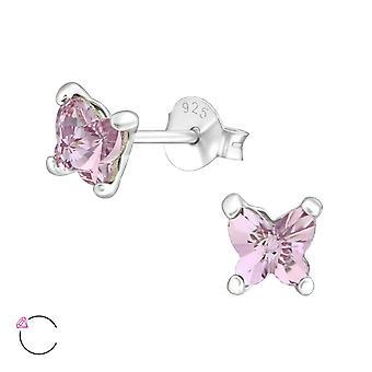 Butterfiy kristal van Swarovski® - 925 Sterling zilveren Ear Studs - W38034X