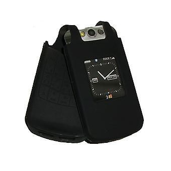 OEM BlackBerry Silicone peau affaire Pearl Flip 8220 8230 (noir)