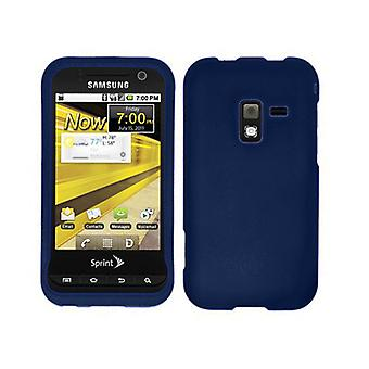 Unlimited Cellular Rubberized Snap-On Cover for Samsung Conquer 4G SPG-D600 (Blue)