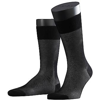 Falke Fine Shadow Socks - Black/Grey