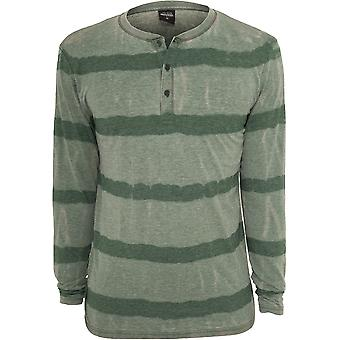 Urban Classics Men's Long Sleeve Shirt Fantasy Stripe Burnout Henley