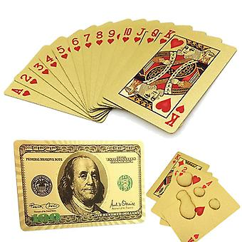 Playing card - 24K Gold Plate, USD