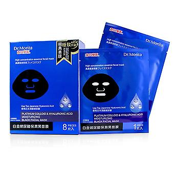 Dr. Morita Platinum Colloid & Hyaluronic Acid Moisturizing Black Facial Mask - 8pcs