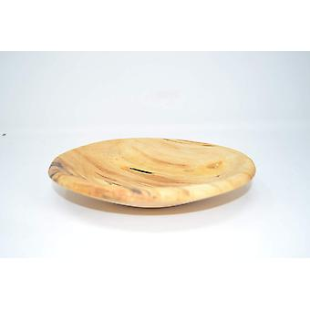 Shell plate dish Bowl poplar 19 x 18 hand made made in Austria wood moulding Woodart decoration unique gift gift idea