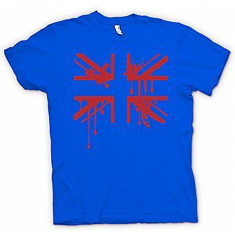 Womens T-shirt - Grunge Blood Union Jack