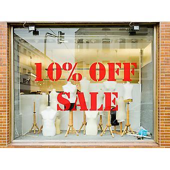 10 % Rabatt auf Sale Shop Vinyl Fenster Wandtattoo