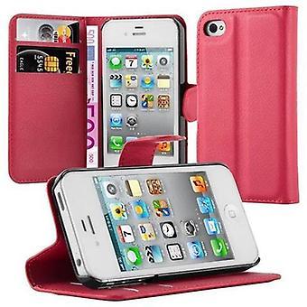 Cadorabo Case voor Apple iPhone 4/iPhone 4S gevaldekking-telefoon geval met magnetische sluiting, stand functie en kaart geval-Case cover geval geval geval boek vouwen stijl