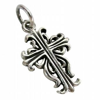 Sterling Silver Cross Pendant Antique Finish
