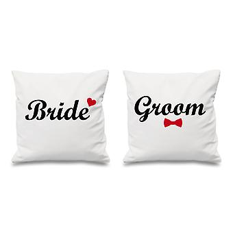 Bride And Groom White Cushion Covers 16