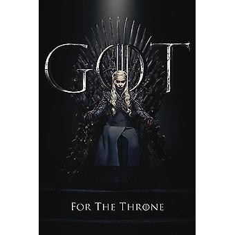 Game of Thrones Poster Daenerys For The Throne Daenerys Targaryen - Emilia Clarke
