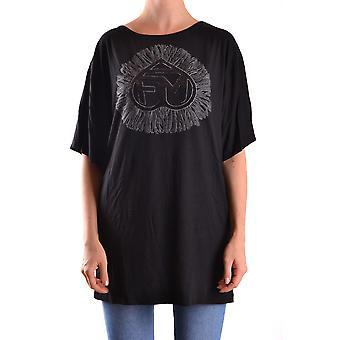 Frankie Morello Ezbc167015 Women's Black Cotton T-shirt