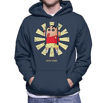 Crayon Shin Chan Retro Japanese Men's Hooded Sweatshirt