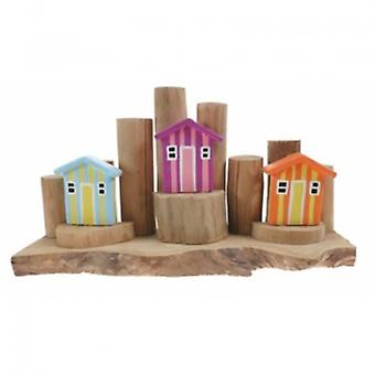 Colourful Beach Hut on Groynes Nautical Decoration