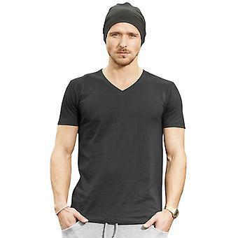 Cotton Addict Mens Light Cotton V Neck Short Sleeve T Shirt