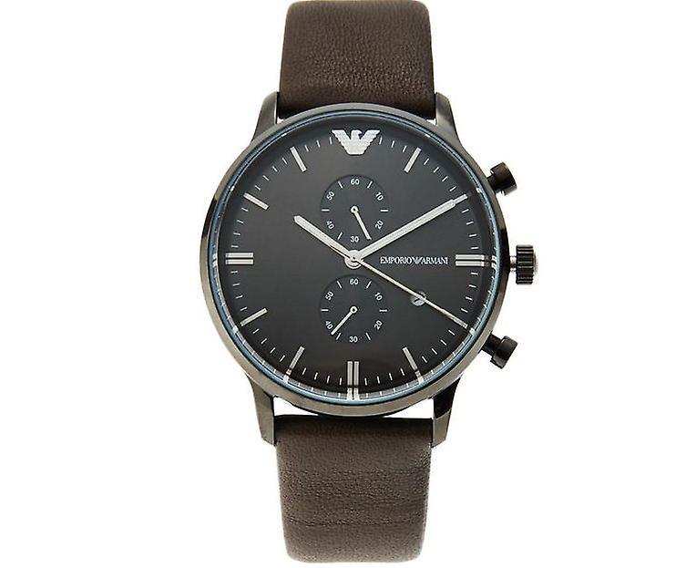 Emporio Armani Ar1932 Matte Brown Leather Men's Watch