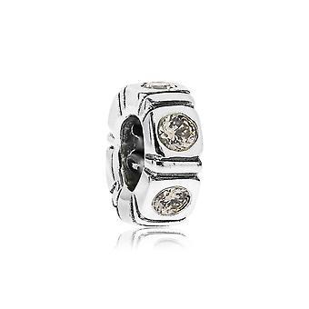 Pandora argento chiaro del Nord & Champagne CZ Trinity distanziale 790368CCZ