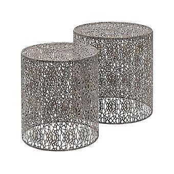 Waage Möbel antike grau Eisen Nesting Seitentische