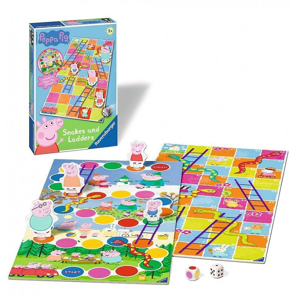 Peppa Pig Ravensburger Snakes & Ladders Game