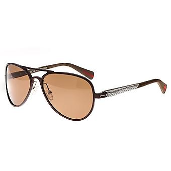 Breed Dorado Titanium Polarized Sunglasses - Brown/Brown