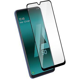Tempered glass screen protector for Samsung Galaxy A50 / A30 colored edges Black