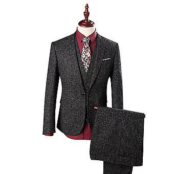 כל הגברים Mens 3יח filter kit silm מתאים 3 חתיכות חליפה (בלייזר & אפוד & מכנסיים)