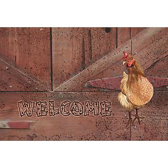 Carolines Treasures  SB3075PLMT Welcome Chicken Fabric Placemat