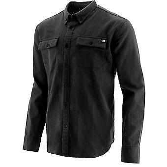 CAT Workwear Mens Button Up Long Sleeve Durable Cotton Shirt