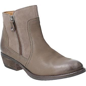 Hush Puppies Womens Isla Zip Up Leather Suede Ankle Boots